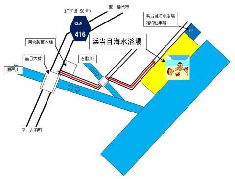 海水浴場案内図